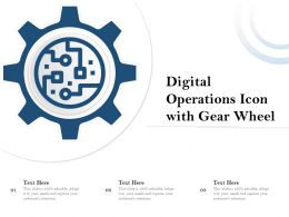 Digital Operations Icon With Gear Wheel