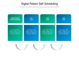 Digital Patient Self Scheduling Ppt Powerpoint Presentation Infographics Introduction Cpb