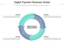 Digital Payment Business Model Ppt Powerpoint Presentation Layouts Graphics Cpb