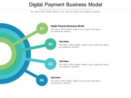 Digital Payment Business Model Ppt Powerpoint Presentation Styles Outfit Cpb