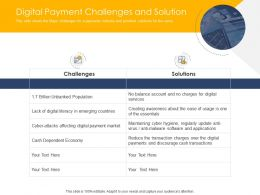 Digital Payment Challenges And Solution Ppt Ideas Templates