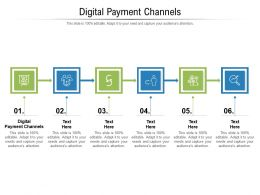 Digital Payment Channels Ppt Powerpoint Presentation Model Deck Cpb