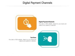 Digital Payment Channels Ppt Powerpoint Presentation Templates Cpb