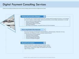 Digital Payment Consulting Services Online Solution Ppt Structure