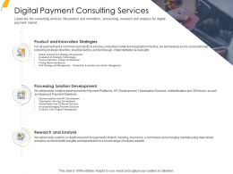 Digital Payment Consulting Services Ppt Template Slide Download