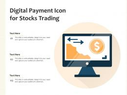 Digital Payment Icon For Stocks Trading