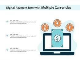 Digital Payment Icon With Multiple Currencies