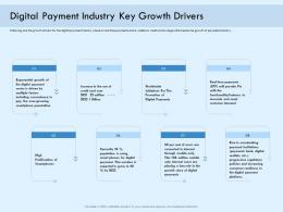 Digital Payment Industry Key Growth Drivers Online Solution Ppt Icons