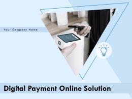 Digital Payment Online Solution Powerpoint Presentation Slides