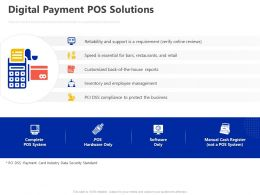 Digital Payment POS Solutions Ppt Powerpoint Presentation File Mockup