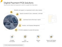 Digital Payment Pos Solutions Ppt Powerpoint Presentation Portfolio Gallery