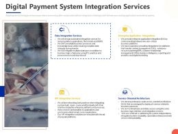 Digital Payment System Integration Services Ppt Powerpoint Presentation Show Summary