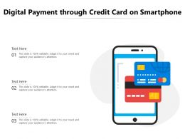 Digital Payment Through Credit Card On Smartphone