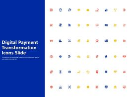 Digital Payment Transformation Icons Slide Ppt Powerpoint Presentation Icon Objects