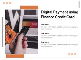 Digital Payment Using Finance Credit Card