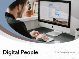 Digital People Business Functions Connection Network Ecommerce