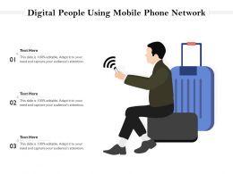 Digital People Using Mobile Phone Network