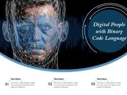 Digital People With Binary Code Language