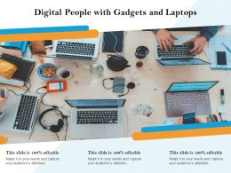 Digital People With Gadgets And Laptops