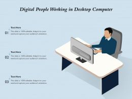 Digital People Working In Desktop Computer