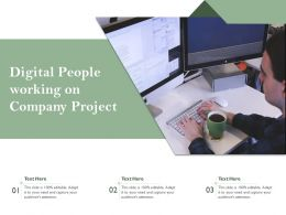 Digital People Working On Company Project