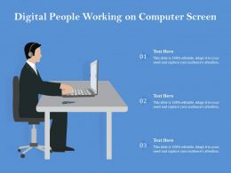 Digital People Working On Computer Screen