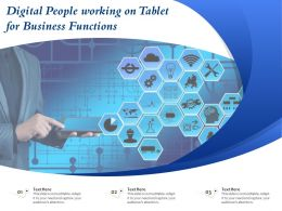 Digital People Working On Tablet For Business Functions