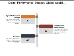 Digital Performance Strategy Global Social Responsibility Company Portfolio Management Cpb