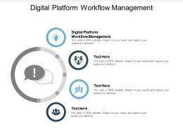 Digital Platform Workflow Management Ppt Powerpoint Presentation Infographics Example Cpb