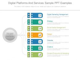 Digital Platforms And Services Sample Ppt Examples