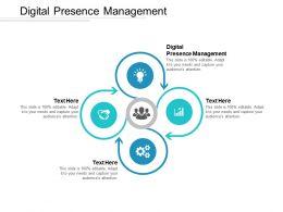 Digital Presence Management Ppt Powerpoint Presentation Gallery Slides Cpb