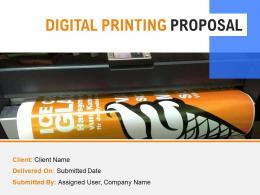 Digital Printing Proposal Powerpoint Presentation Slides