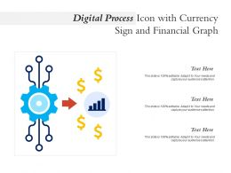 Digital Process Icon With Currency Sign And Financial Graph