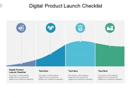 Digital Product Launch Checklist Ppt Powerpoint Presentation Infographic Template Styles Cpb