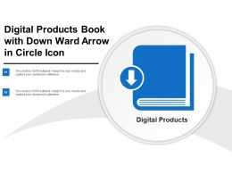 Digital Products Book With Down Ward Arrow In Circle Icon