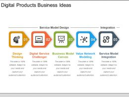 Digital Products Business Ideas Ppt Slide Styles