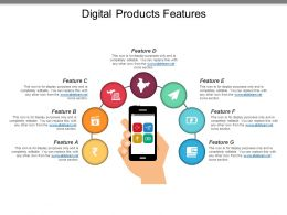 Digital Products Features Ppt Slide Templates