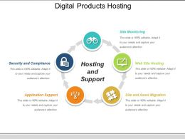 Digital Products Hosting Ppt Slide Templates