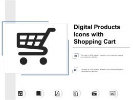 Digital Products Icons With Shopping Cart