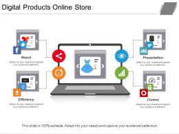 Digital Products Online Store Ppt Slides