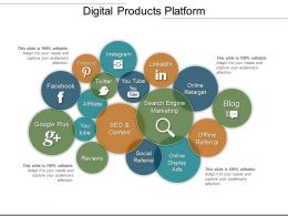 Digital Products Platform Ppt Slides Download