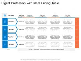 Digital Profession With Ideal Pricing Table Infographic Template