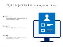 Digital Project Portfolio Management Icon