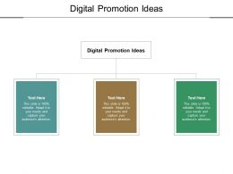 Digital Promotion Ideas Ppt Powerpoint Presentation Summary Format Ideas Cpb