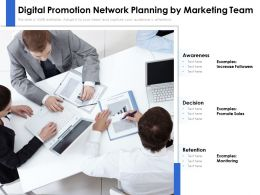 Digital Promotion Network Planning By Marketing Team