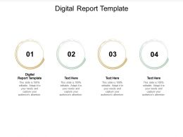 Digital Report Template Ppt Powerpoint Presentation Outline Files Cpb