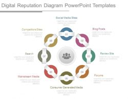 Digital Reputation Diagram Powerpoint Templates