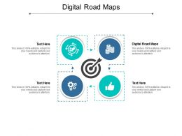 Digital Road Maps Ppt Powerpoint Presentation Ideas Examples Cpb