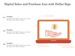 Digital Sales And Purchase Icon With Dollar Sign