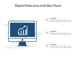 Digital Sales Icon With Bar Chart
